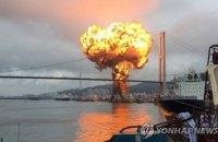 У порту Південної Кореї загорівся корабель з пальним