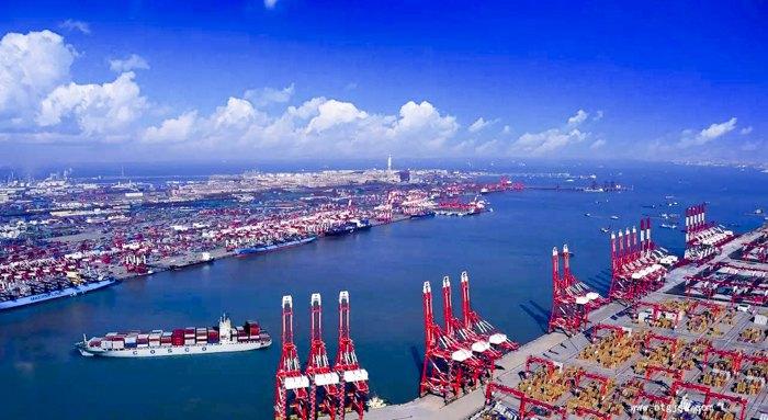 Порт Циндао под названием Цинвань (буквальный перевод – гавань Цин)
