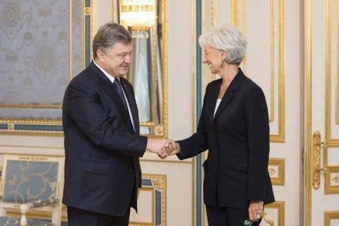 Лагард похвалила Порошенко завнесенный вРаду антикоррупционный закон