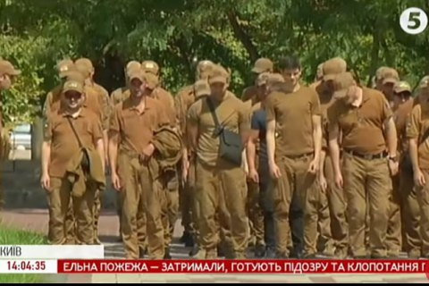 В Киеве прошла репетиция Марша защитников ко Дню независимости