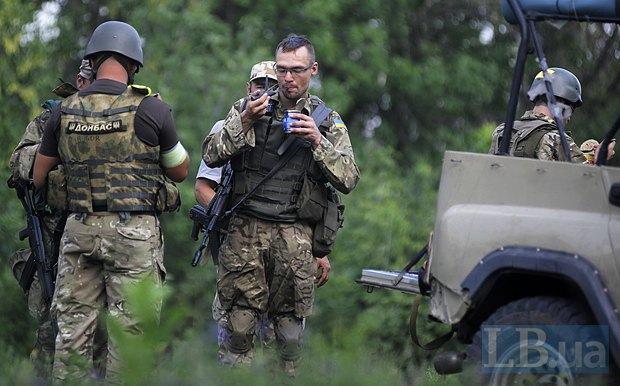 Бойцы <<Донбасса>> под Первомайском, август 2014
