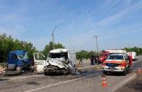 На автодороге Житомир-Черновцы при столкновении двух микроавтобусов погибли три человека