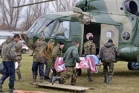 Трех военных из зоны АТО в тяжелом состоянии самолетом доставили в Днепр