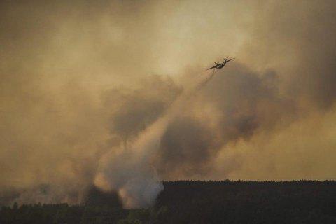 У Чорнобильській зоні далі горить ліс