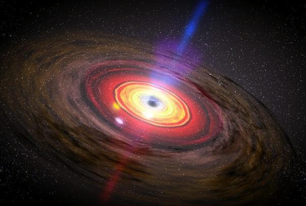 Модель того, как выглядит черная дыра