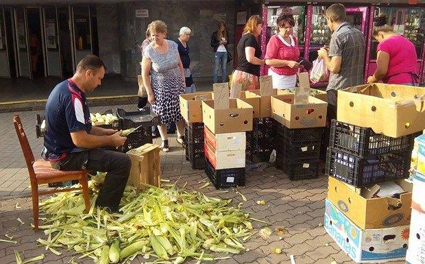 Активная торговля на Героев Днепра в июне 2015 года