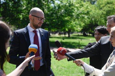Яценюк встретится свластями США для разговора о«российской агрессии»