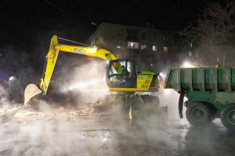 В Харькове восстановили теплоснабжение после аварии на теплосетях