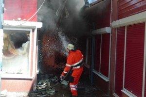 У Вінниці сталася пожежа на будівельному ринку