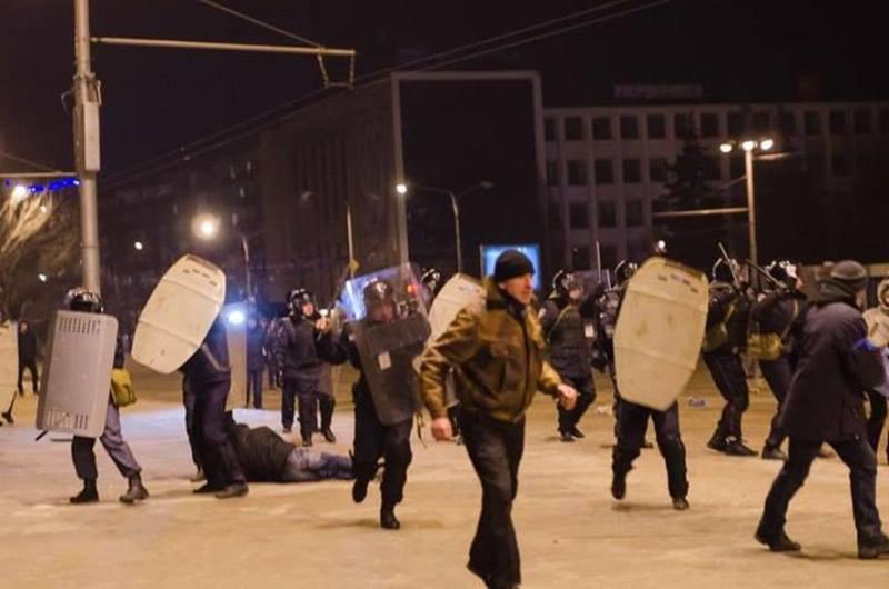 Розгін Запорізького Майдану 26 січня 2014 року