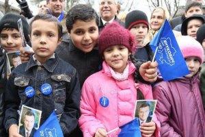 Кировоградских школьников вывели на холод встречать Януковича