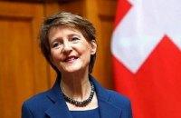 Президент Швейцарії прибула в Україну з триденним візитом