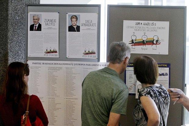 Литовцы на избирательном участке