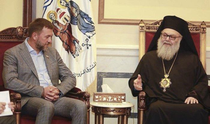 Встреча Дмитрия Саблина и патриарха Антиохийского и всего Востока Иоанна в Дамаске
