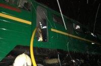 """В Житомирской области ночью горел локомотив пассажирского поезда """"Львов - Бахмут"""" (обновлено)"""