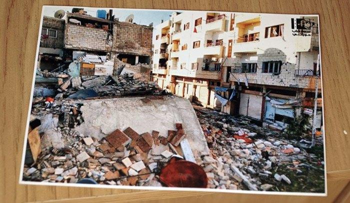 Фотография дома семьи Альбольболь, который во время войны был разрушен до основания.
