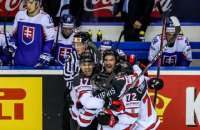На Чемпионате мира по хоккею Канада обыграла Словакию, забросив победную шайбу за секунду до сирены