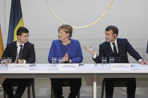 Меркель, Макрон и Зеленский призвали РФ отвести войска от границы Украины