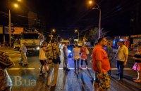 В Киеве активисты перекрывали проспект Науки из-за застройки сквера волонтеров АТО