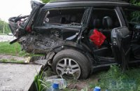 На Новообуховской трассе столкнулись Subaru и Volkswagen