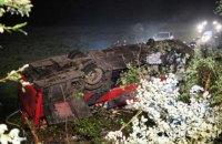 Автобус с украинцами сорвался с 30-метрового склона в Польше, есть погибшие