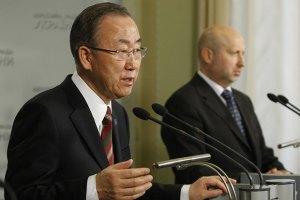 Глава ООН вимагає негайно звільнити затриманих у Слов'янську інспекторів ОБСЄ