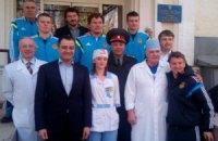 Игроки сборной Украины проведали бойцов АТО в госпитале