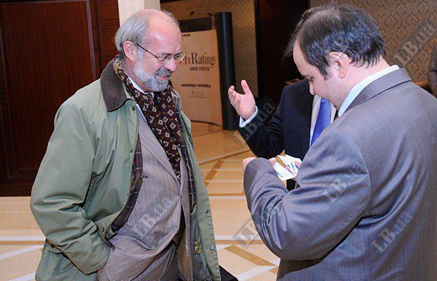 Олег Базар и Жан-Жак Эрве, советник правления по вопросам сельского хозяйства Credit Agricole Вank