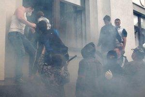 У Луганську ОДА влучила теплова ракета: виникла пожежа (оновлено)