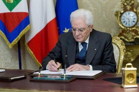 Президент Італії розпустив парламент перед виборами