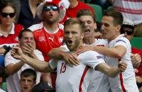 Збірна Польщі стала першим учасником чвертьфіналу на Євро-2016