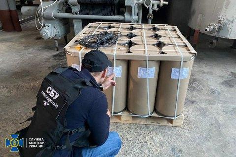 """На Дніпропетровщині СБУ заблокувала """"мінізавод"""" з виробництва підпільного алкоголю і вилучила 16 тонн """"товару"""""""