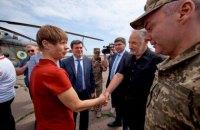 Президент Естонії приїхала на Донбас
