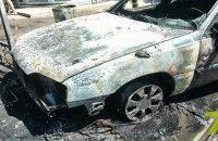 В Одессе такси сгорело, вспыхнув во время движения