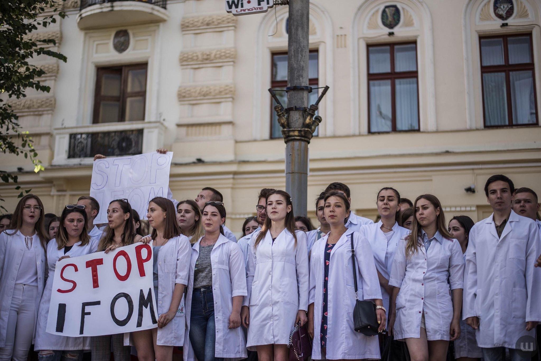 Протест студентів-медиків у Чернівцях