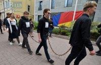 У Києві провели акцію-перфоманс на підтримку Сенцова