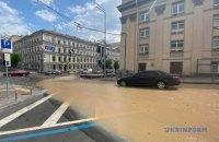 У Києві затопило гарячою водою Пушкінську вулицю