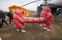 Зеленскому показали вертолет для инфекционных больных с замглавы ОП в роли пациента
