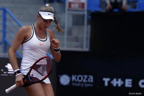16-летняя украинка пробилась в восьмерку лучших на турнире WTA