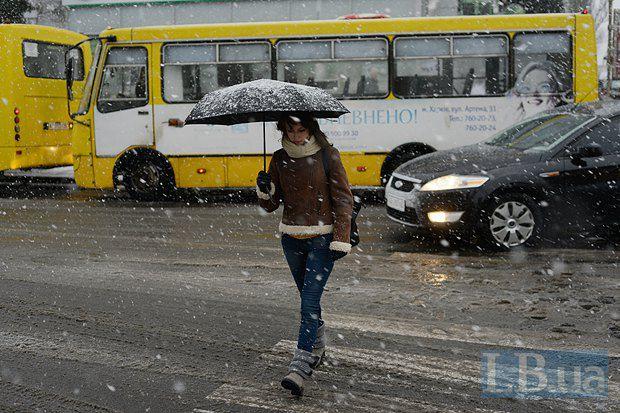 А также обозначение для снега, который в очередной раз доказывает, что в Киеве коммунальные службы не бывают готовы к зиме