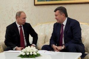 """Янукович """"обстоятельно"""" побеседовал с Путиным"""