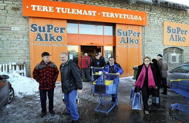 Алкогольний супермаркет в Фінляндії