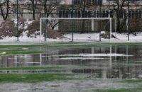 Прокол месяца - футбол по щиколотку в воде и по уши в грязи
