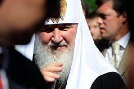 Патриарх Кирилл отслужил молебен на Владимирской горке