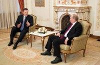 Янукович сподівається на позитивний результат зустрічі з Путіним