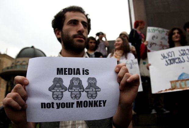 За годы президентства Саакашвили в стране практически не осталось свободных СМИ