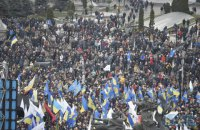 Поліція підрахувала кількість учасників віча на Майдані
