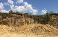 У Чернівецькій області виявили нелегальний кар'єр з видобутку піску