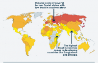 Українці виявилися світовими лідерами за недовірою до вакцин