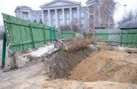 Часовню возле фундамента Десятинной церкви начали строить незаконно, - власти
